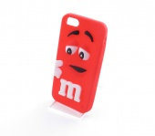 Кейс для iPhone 5/5S/SE M&Ms Красный