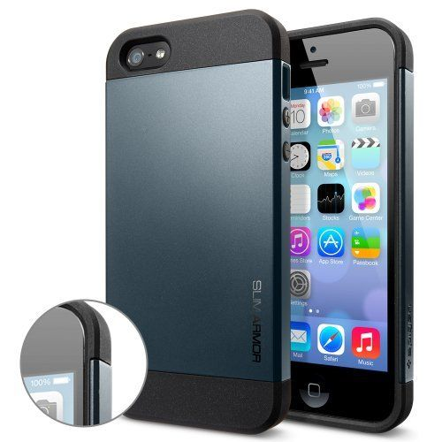 Кейс SGP Slim Armor Black для iPhone 5/5S