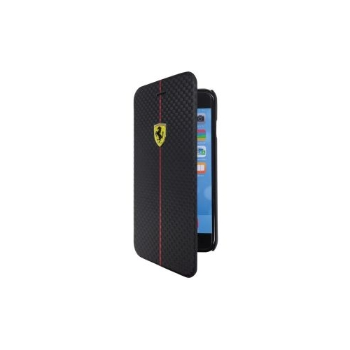 Чехол BookType Carbon Ferrari для iPhone 6 Plus FEFOCFLBKP6LBL