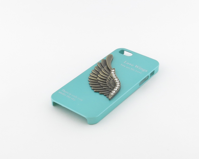 Кейс Love Wings бирюзовый для iPhone 5/5S