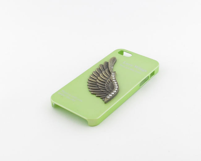 Кейс Love Wings зеленый для iPhone 5/5S