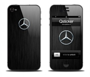 Винилы Qsticker Mercedes для iPhone 4/4S