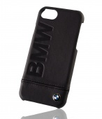 Кейс для iPhone 7 BMW Signature Logo imprint Hard Leather Black BMHCP7LLSB